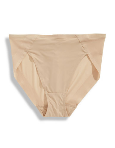 Bali No-Slip Hi-Cut Briefs-NUDE-Medium