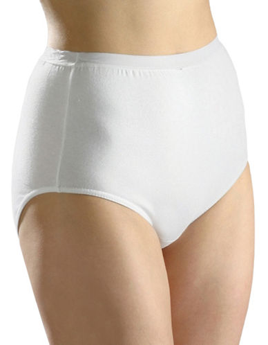 Hanna Full-Fit Cotton Briefs-WHITE-Medium