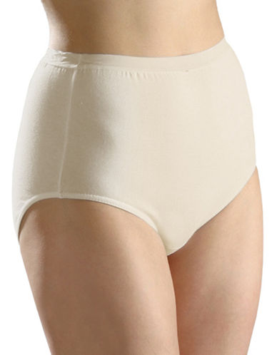 Hanna Full-Fit Cotton Briefs-BEIGE-Large