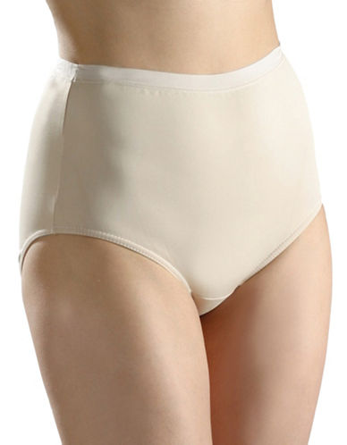 Hanna Full High-Cut Smooth Briefs-BEIGE-Medium