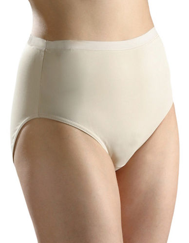 Hanna Full High-Cut Smooth Briefs-BEIGE-Large