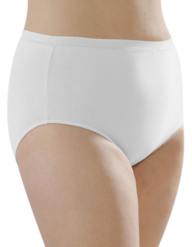 Hanna Full Cotton Briefs-WHITE-X-Large