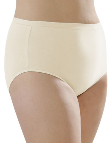 Hanna Full Cotton Briefs-BEIGE-X-Large