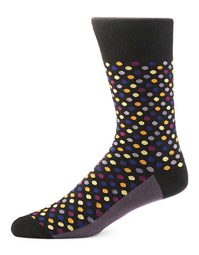 Yo Sox Tiny Dots Crew Socks-MULTI-COLOURED-7-12