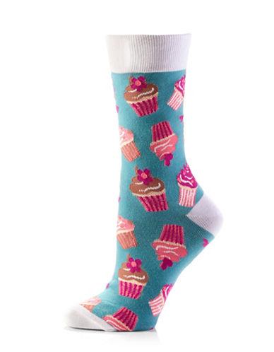 Yo Sox Womens Cake Baby Socks-BLUE MULTI-One Size