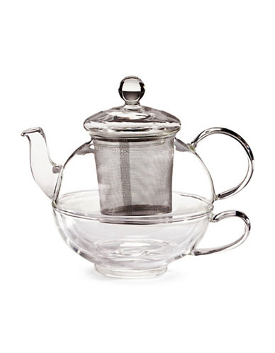 For TeaS Sake Glass Infuser Teapot-CLEAR-One Size