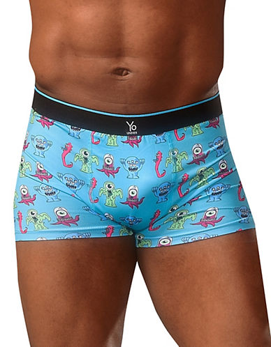 Yo Sox Monster Printed Briefs-TEAL BLUE-X-Large