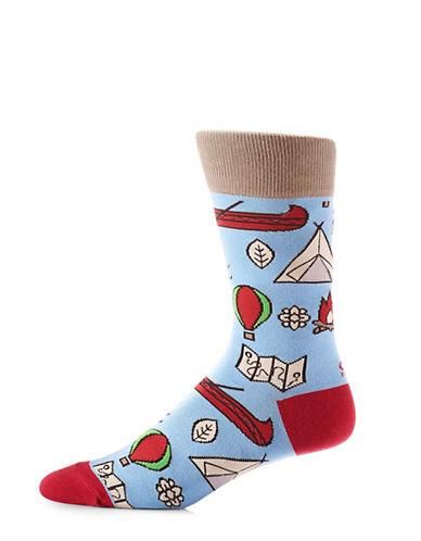 Yo Sox Camping Crew Socks-LIGHT BLUE-7-12