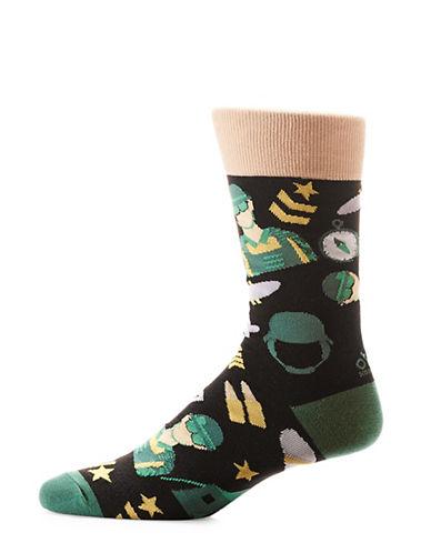 Yo Sox Army Crew Socks-BLACK-7-12