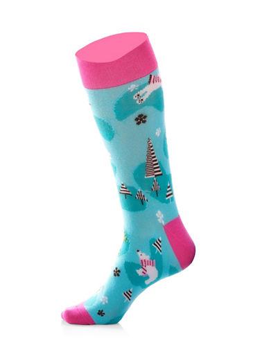 Yo Sox Womens Polar Bear Socks-BLUE-One Size