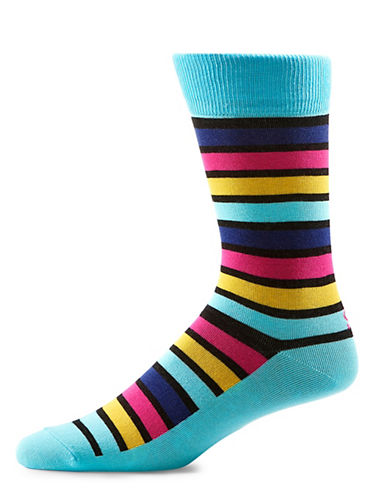 Yo Sox Multi Stripe Crew Socks-MULTI-COLOURED-10