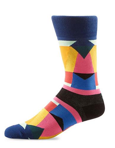 Yo Sox Geometric Crew Socks-MULTI-COLOURED-10