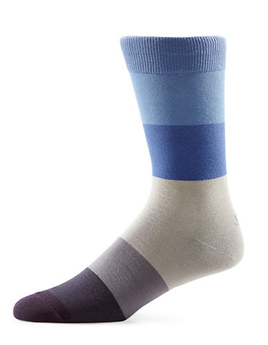 Yo Sox Ombre Crew Socks-BLUE-10