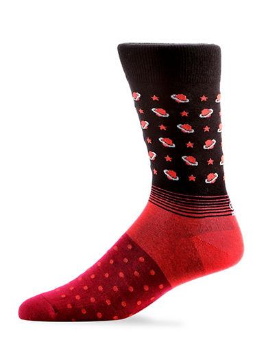 Yo Sox Saturn Crew Socks-BLACK-7-12