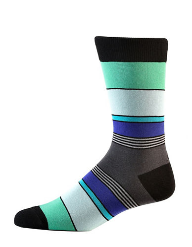 Yo Sox Multi-Colour Cotton Crew Socks-MULTI-COLOURED-7-12