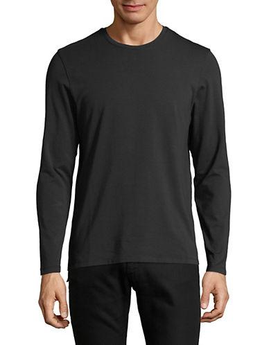 Yo And Co Long Sleeve Tee-BLACK-X-Large 89915563_BLACK_X-Large