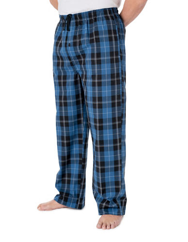StanfieldS Poplin Plaid Lounge Pant-INDIGO/BLACK-Medium