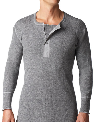 StanfieldS Heavy Wool Long Sleeve Shirt-GREY MIX-Small