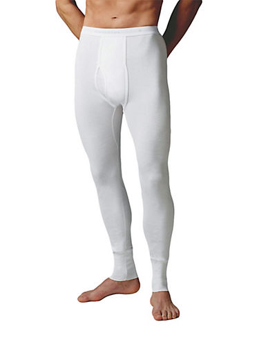 StanfieldS Cotton Long Thermal Bottoms-WHITE-Large