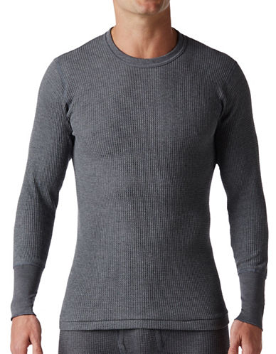 StanfieldS Thermal  Long Sleeve Shirt-CHARCOAL-XX-Large