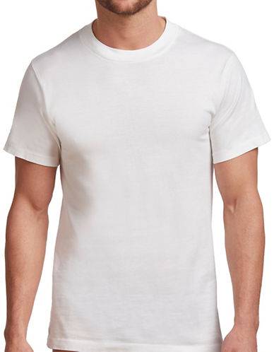 StanfieldS 2 Pack Crew Neck T Shirt-WHITE-Small