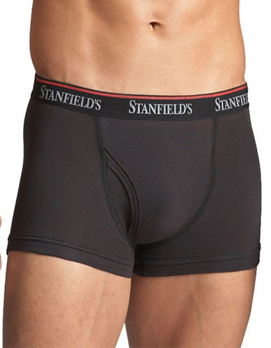 StanfieldS 2 Pack Cotton Stretch Trunks-BLACK-Medium