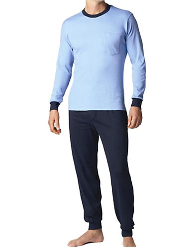 StanfieldS Mens Polo Pyjama-BLUE-Small