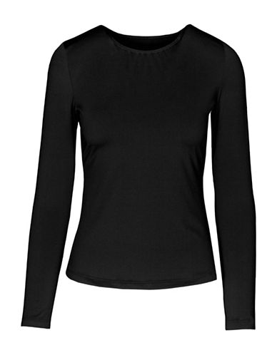 StanfieldS Blocked Thermal Long-Sleeve Tee-BLACK-Large