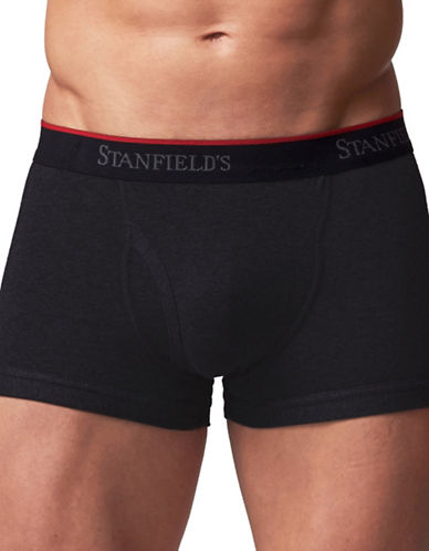 StanfieldS 2 Pack Cotton Stretch Trunks-BLACK-XX-Large