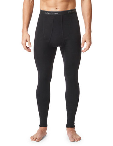 StanfieldS Superwash Wool Long Underwear-BLACK-Medium