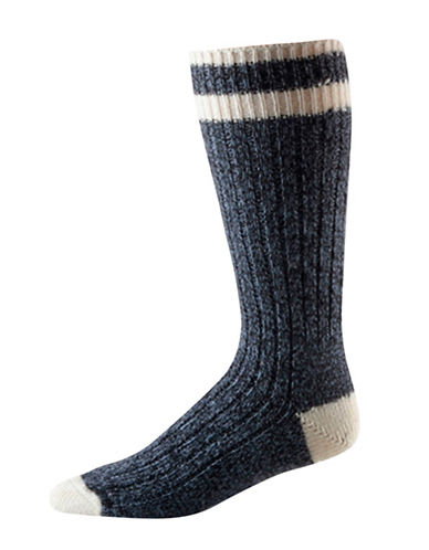 StanfieldS Two-Pack Work Socks-INK BLACK MIX-11