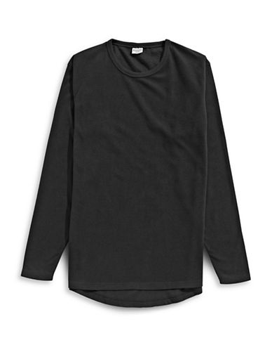 StanfieldS Long-Sleeve Microfleece Tee-BLACK-Small