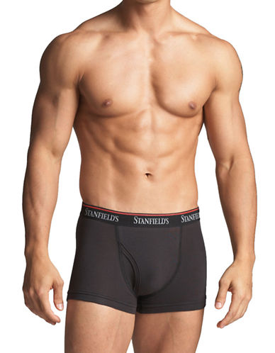 StanfieldS 2 Pack Cotton Stretch Trunks-GRAPHITE-Small