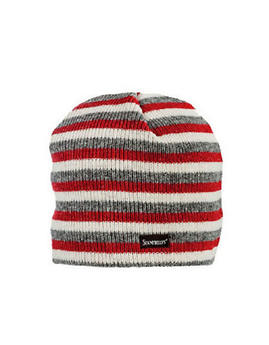 StanfieldS Striped Knitted Toque-RED-One Size