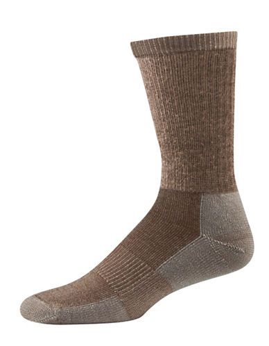 StanfieldS Two-Pack Thermal  Boot Socks-TAN-One Size