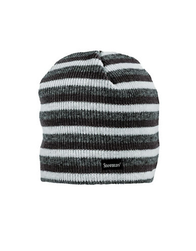 StanfieldS Striped Knitted Toque-BLACK-One Size