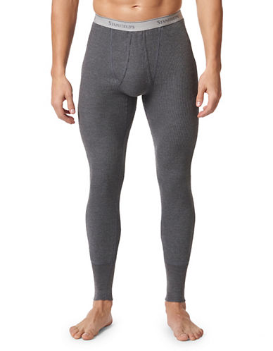Stanfield'S Long Thermal Waffle-Knit Pants-CHARCOAL-Small
