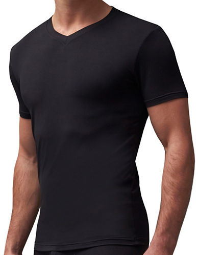 StanfieldS Micromodal V-Neck T-Shirt-BLACK-X-Large