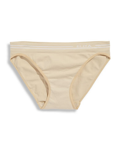 Elita Seamless Bikini Cut Briefs-NUDE-Small