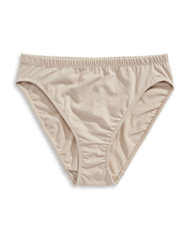 Elita High-Cut Stretch Panty-BEIGE-Large