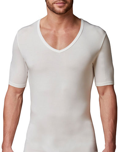 Stanfield'S Invisible Deep V Neck T-Shirt-WHITE-X-Large 88213435_WHITE_X-Large