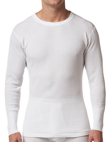 StanfieldS Thermal  Long Sleeve Shirt-WHITE-Small