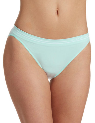 Elita Seamless Bikini Cut Briefs-AQUA-Medium