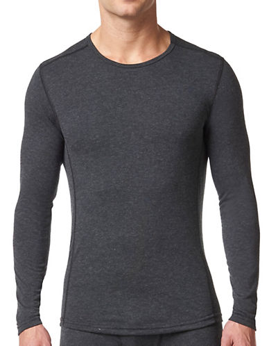 StanfieldS HeatFX Merino-Wool-Blend Long Sleeve Top-CHARCOAL-Medium