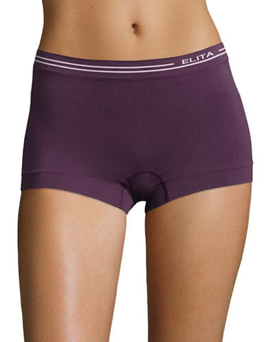Elita Seamless Boyleg Briefs-PURPLE-X-Large