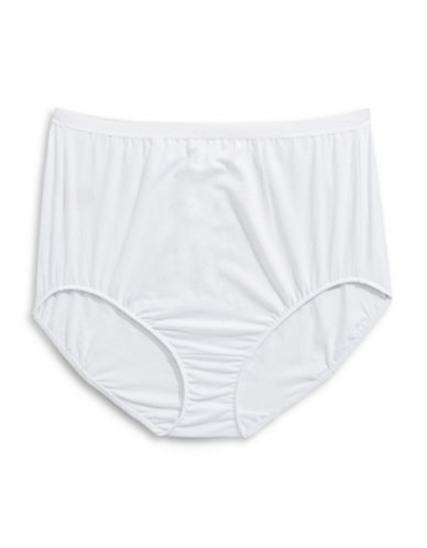 Elita Plus Full-Cut Stretch-Cotton Briefs-WHITE-2X