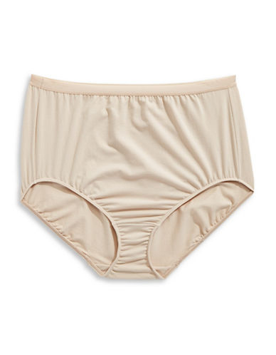 Elita Plus Full-Cut Stretch-Cotton Briefs-BROWN-2X