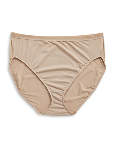 Elita Plus High-Cut Stretch-Cotton Briefs-BROWN-X-Large