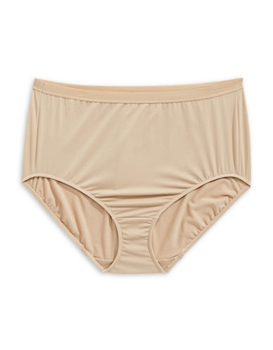 Elita Plus Full-Cut Briefs-BROWN-X-Large