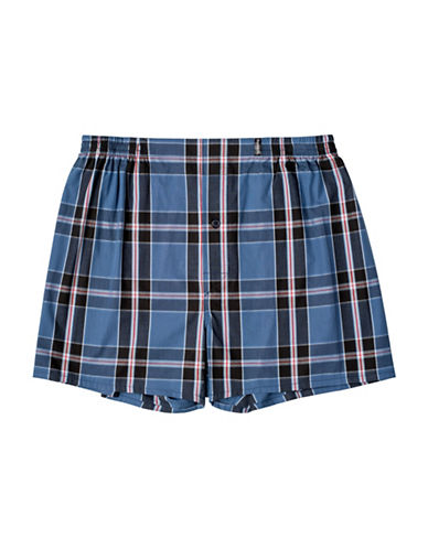 StanfieldS Cotton Woven Boxer-BROWN-Small
